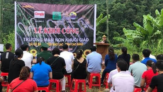 Báo Công lý phối hợp khởi công xây dựng Điểm trường Mầm non Khuổi Giào